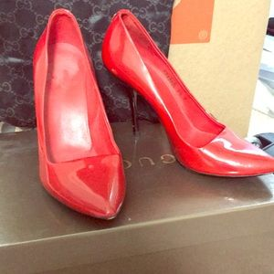 Red Patent Gucci Pumps